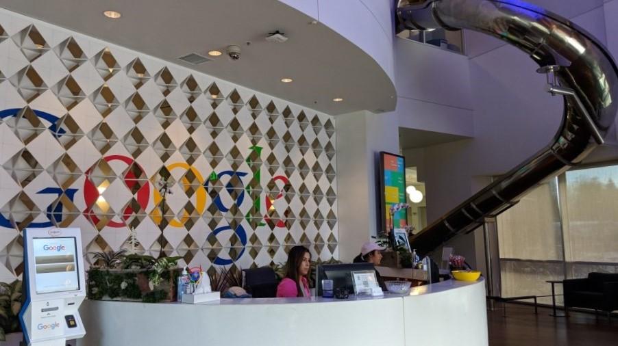 google-reception-desk