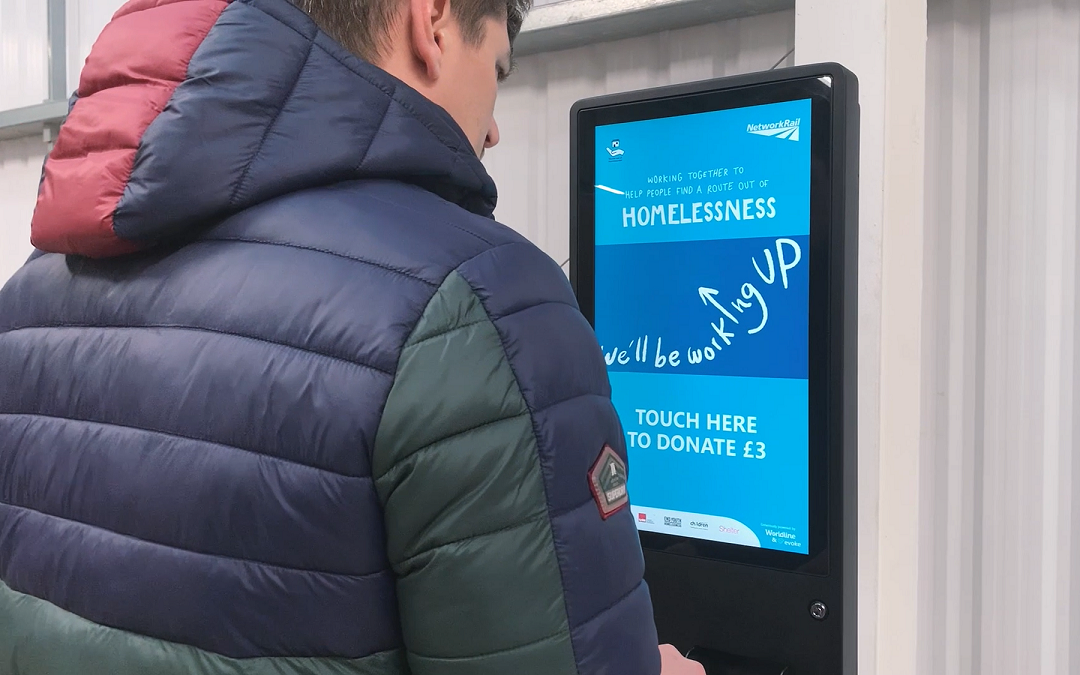 Charity donations made easy with tap and go kiosks at UK railway stations